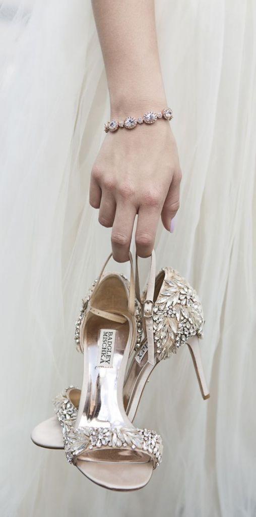 El look de la novia con glitter