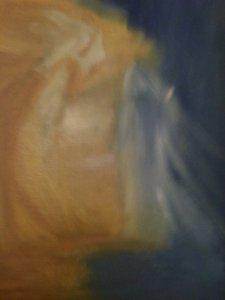 Annonciation, huile sur toile, 25x30cm, GLSG