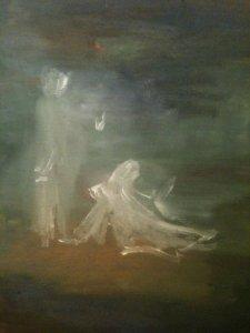 Noli me Tangere, huile sur toile, 25x30 cm, GLSG, Mai 2011