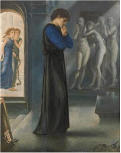 Edward Burne-Jones, Pygmalion. Les désirs du coeur, 1871, aquarelle et encre sur papier