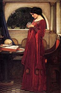 John William Waterhouse, La Boule de Cristal, 1902, huile sur toile ©