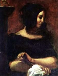 Eugène Delacroix, Portrait de George Sand (inachevé), vers 1838, Musée de Copenhague, huile sur toile