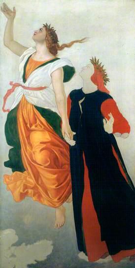 William Dyce (1806-1864), Dante et Béatrice, Aberdeen Art Gallery & Museums, huile sur toile
