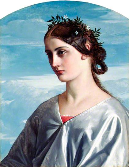William Dyce (1806-1864) Béatrice, 1859, Aberdeen Art Gallery, huile sur bois