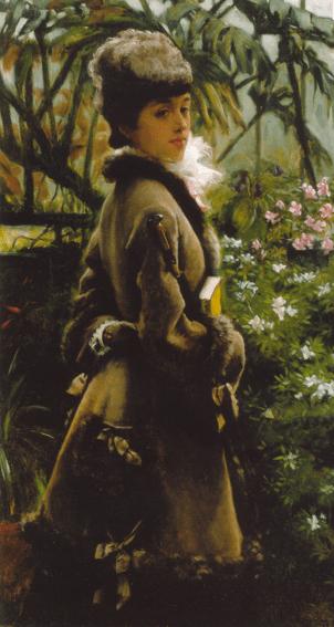 James Tissot, Dans la serre (In the greenhouse), vers 1869, collection particulière