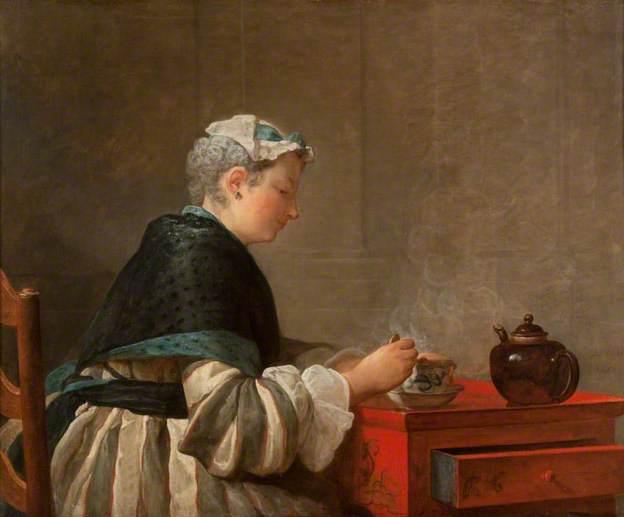 Jean-Baptiste Siméon Chardin, Femme buvant du thé, 1735, Hunterian Art Gallery (University of Glasgow)
