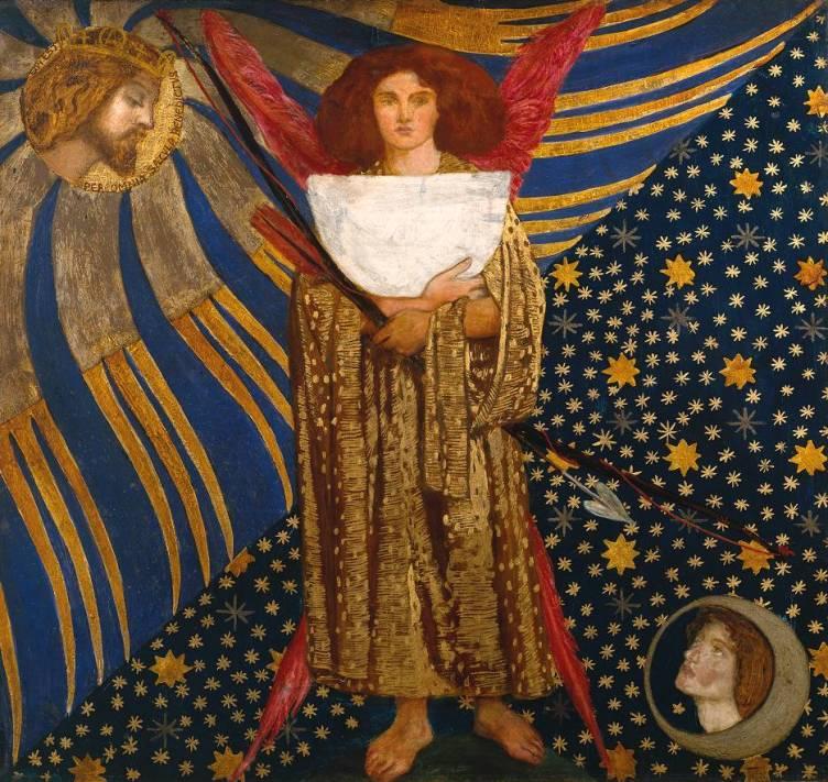 Dante Gabriel Rossetti (1828‑1882) Dantis Amor, Tate Gallery, 1860, huile sur bois