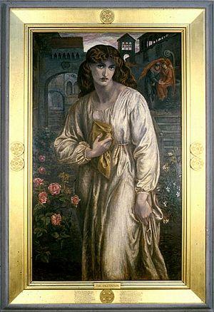 Dante Gabriel Rosseti (1828-1882), La Salutation de Béatrice, 1880-81,Toledo Museum of Art, huile sur toile