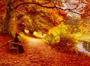 A Wooded Path In Autumn