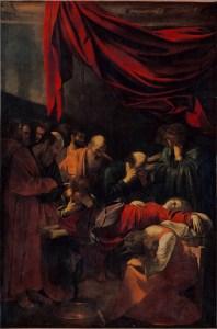 Le Caravage, La Mort de la Vierge, 1601-1606, Musée du Louvre, huile sur toile, 369 × 245 cm