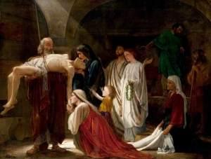 Un martyr chrétien, Edward Armitage, Glasgow Museums, 1863, huile sur toile,  114.3 x 152.4 cm