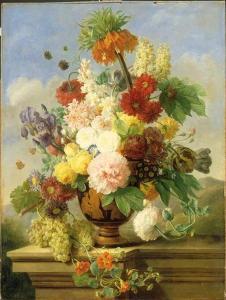 Elise Bruyère, (née Lebarbier), Des Fleurs, 1ère moitié du 19ème siècle, Musée du Louvre, huile sur toile