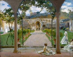 John Singer Sargent, At Torre Galli: Ladies in a Garden, 1910, Royal Academy of Art