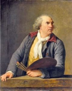 E. Vigée Lebrun, Portrait d'Hubert Robert, 1788, huile sur panneau de chêne, 105x84cm, ©Musée du Louvre, Paris