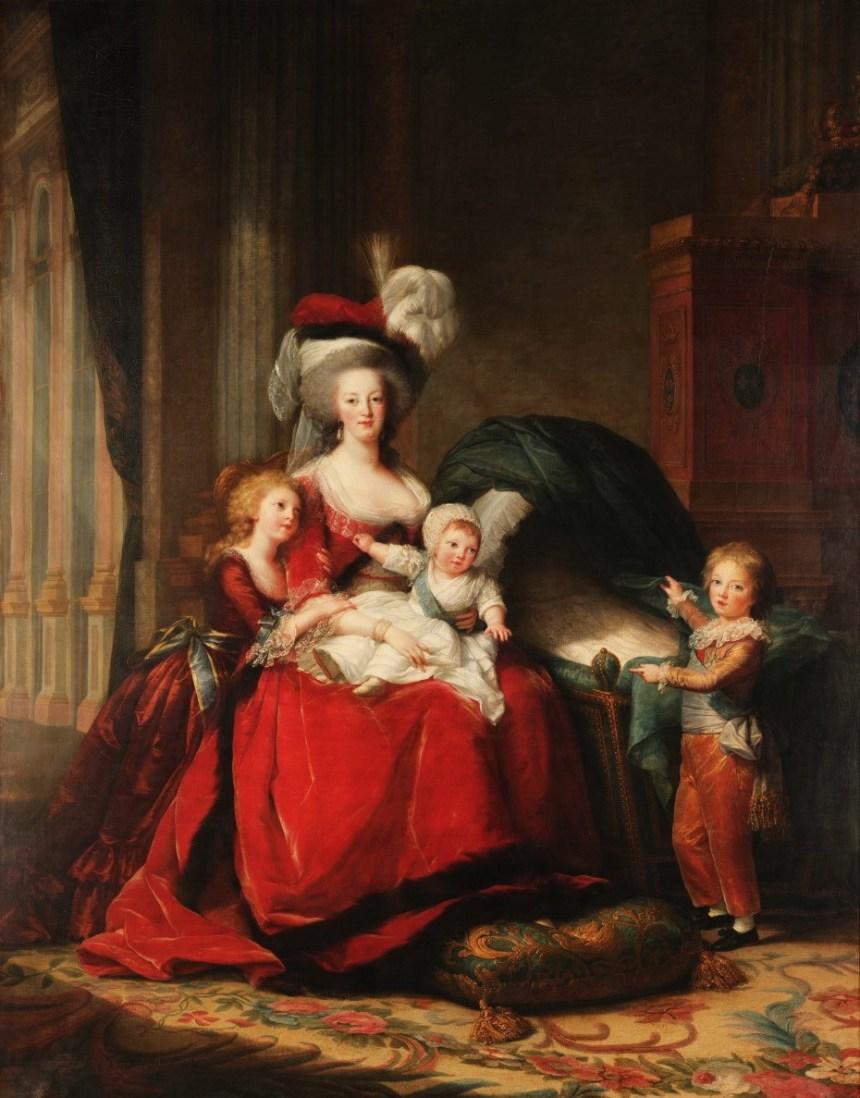 Elisabeth Vigée Lebrun, Marie-Antoinette et ses enfants, 1787, huile sur toile, 271x215cm, Versailles © Musée national des châteaux de Versailles et de Trianon