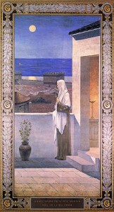 Sainte Geneviève veillant sur Paris (fresque du Panthéon, 1898). Puvis de Chavannes