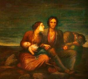 George Frederic Watts () Famine irlandaise (Irish Famine) Watts Gallery, 1850, huile sur toile, 180.3 x 198.1 cm, ©Watts Gallery