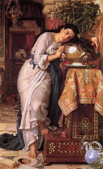 William Holman Hunt, Isabella, 1868, huile sur toile, 187 cm × 116 cm, © Laing Art Gallery, Newcastle upon Tyne