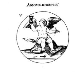 Cesare Ripa (1560?-1622) «L'Amour dompté» in Iconologie ©BnF