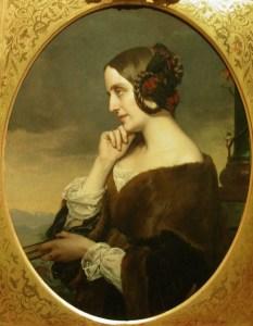 Henri Lehmann (1814-1882) Portrait de Marie d'Agoult, huile sur toile, Musee Carnavalet (France)