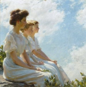 Charles Courtney Curran, On the Heights, 1909. Brooklyn Museum