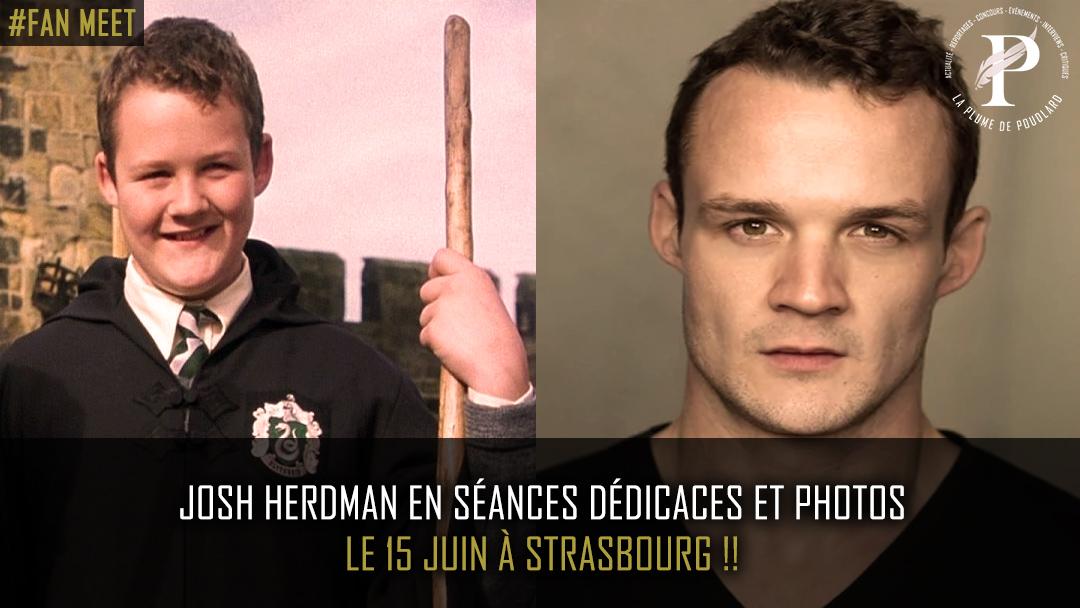 Josh Herdman en séances dédicaces et photos le 15 juin à Strasbourg !!