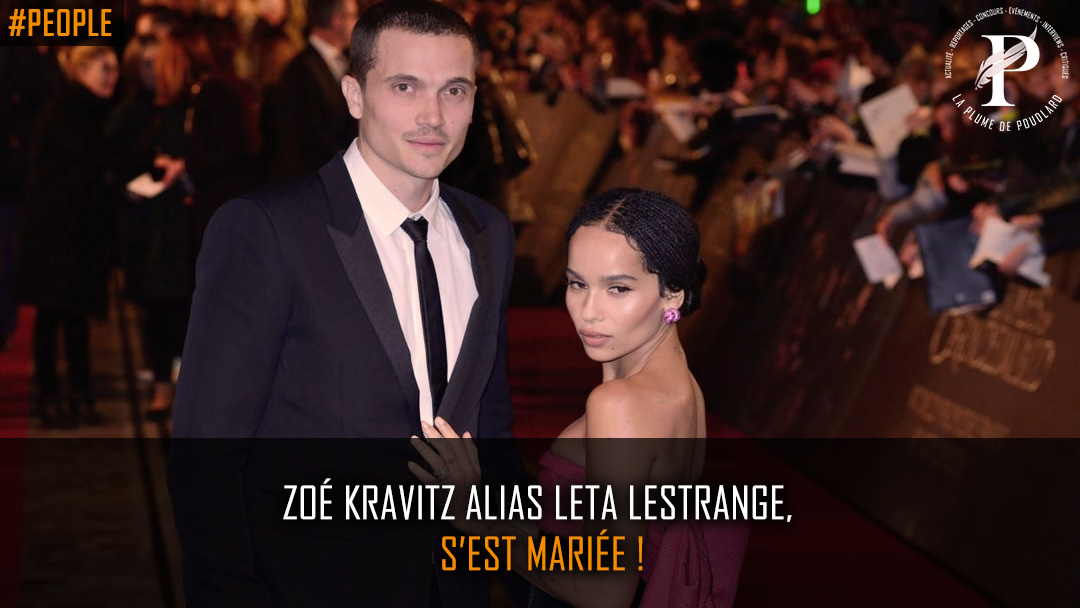 Zoé Kravitz alias Leta Lestrange, s'est mariée !