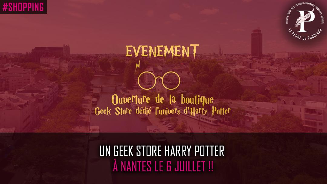 Un Geek Store Harry Potter à Nantes le 6 Juillet !!