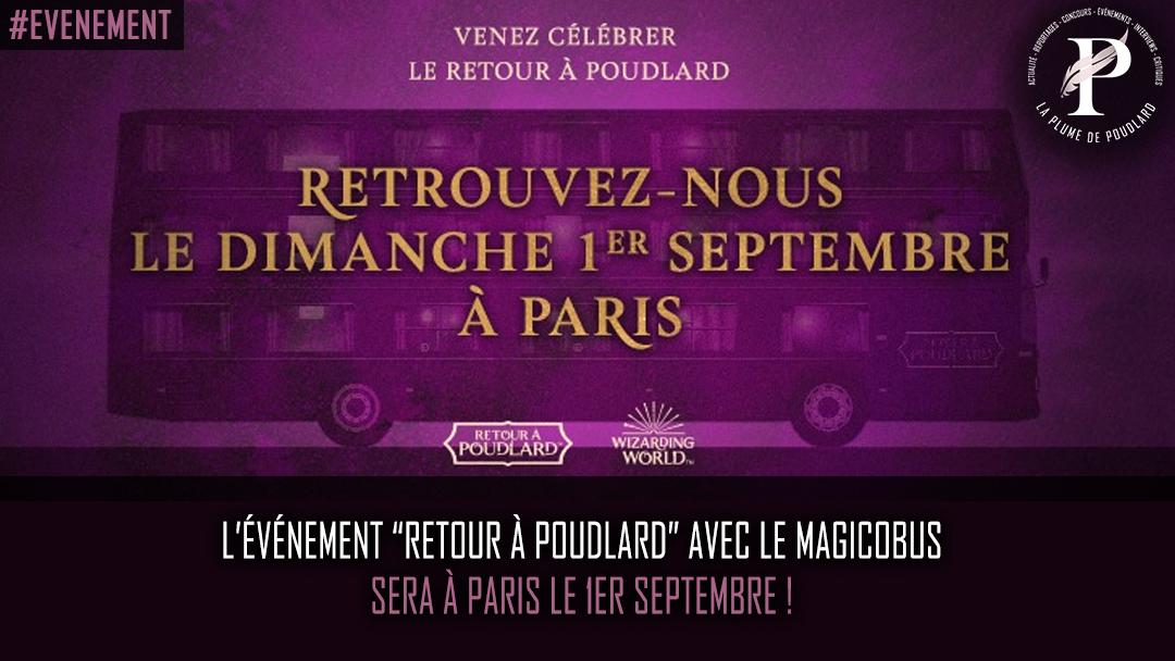 """Evénement Harry Potter par Warner Bros : """"Retour à Poudlard"""" aura lieu le 1 er septembre à Paris !"""