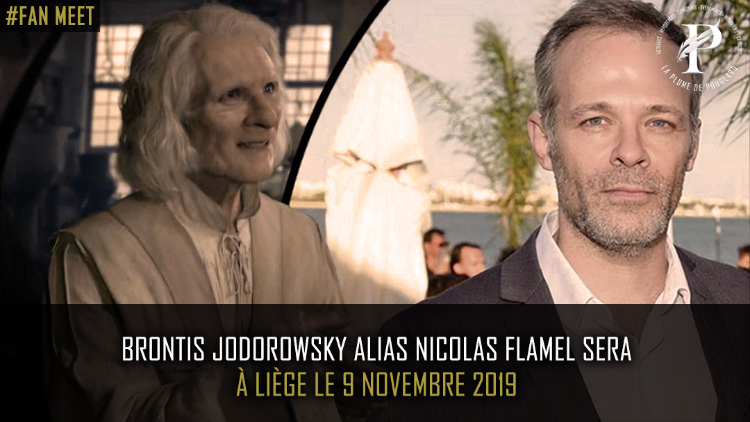 Brontis Jodorowsky alias Nicolas Flamel sera à Liège le 9 novembre 2019