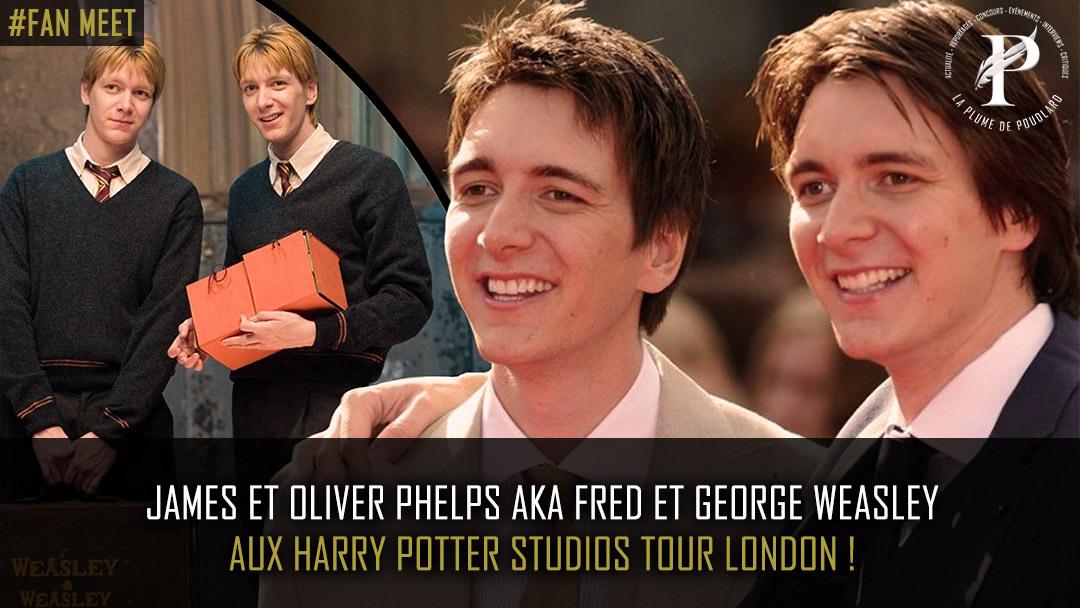 James et Oliver Phelps aux Harry Potter studios Tour London !