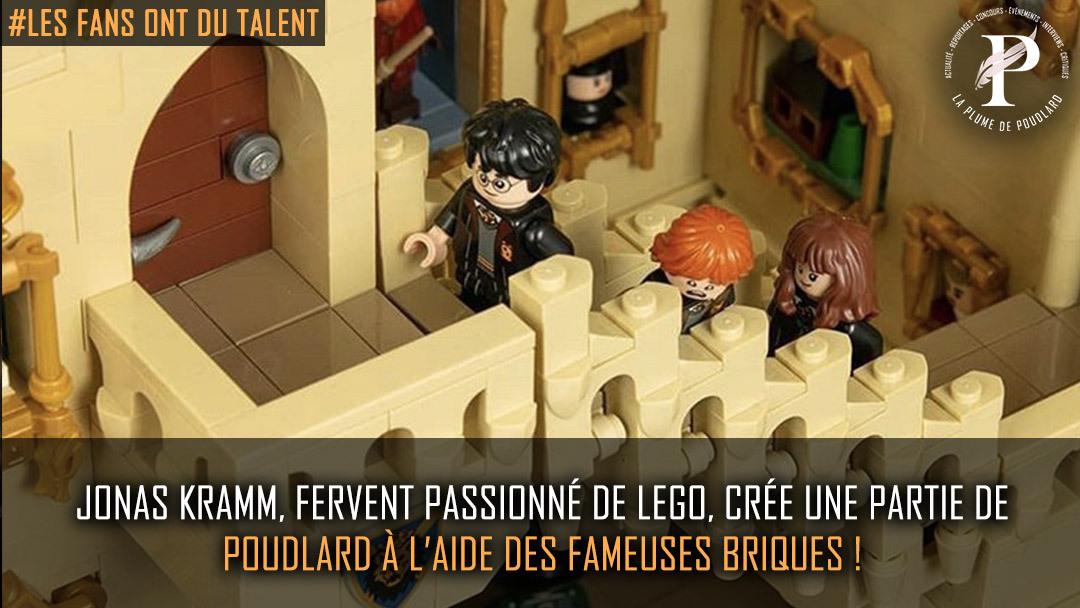 Jonas Kramm, fervent passionné de Lego, crée une partie de Poudlard à l'aide des fameuses briques !