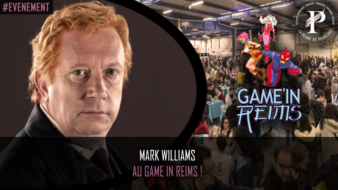 Les 23 et 24 novembre 2019 - Game in Reims avec la présence de Mark Williams