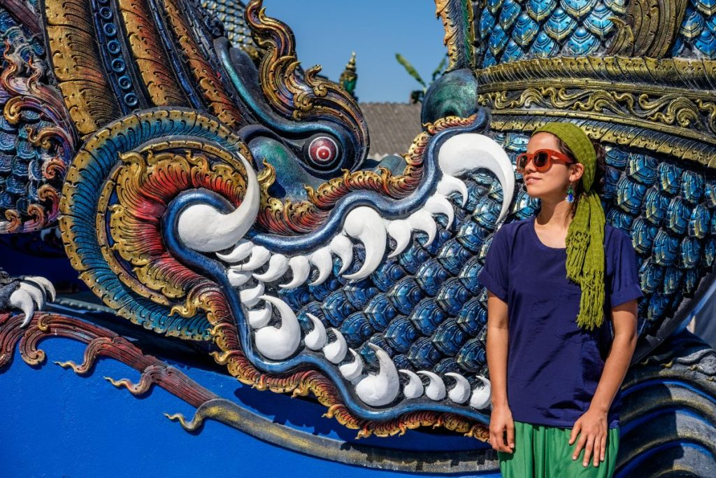 Templo azul, Chiang Rai, Tailandia.