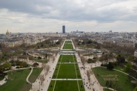 Vista a Campo de Marte, París