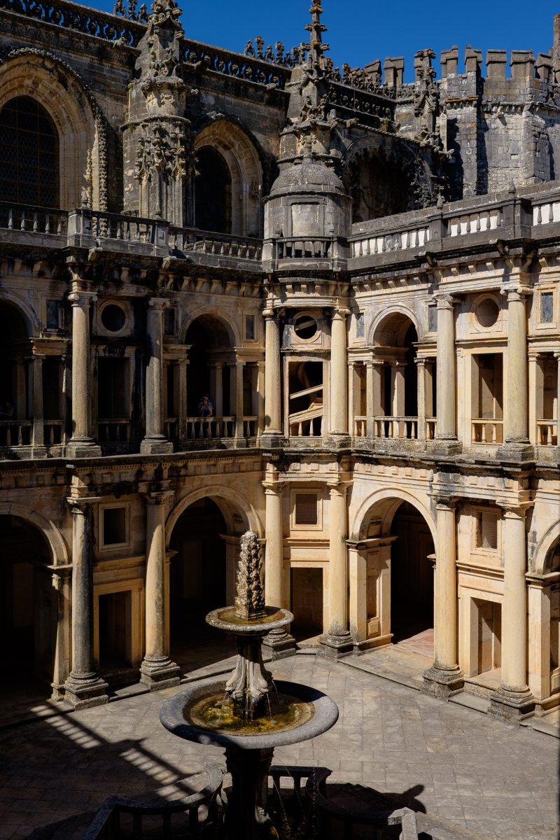 Convento de Cristo y Castillo Templario, Tomar, Portugal. Patrimonio UNESCO.