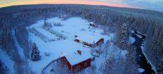 L'hiver, vue du ciel
