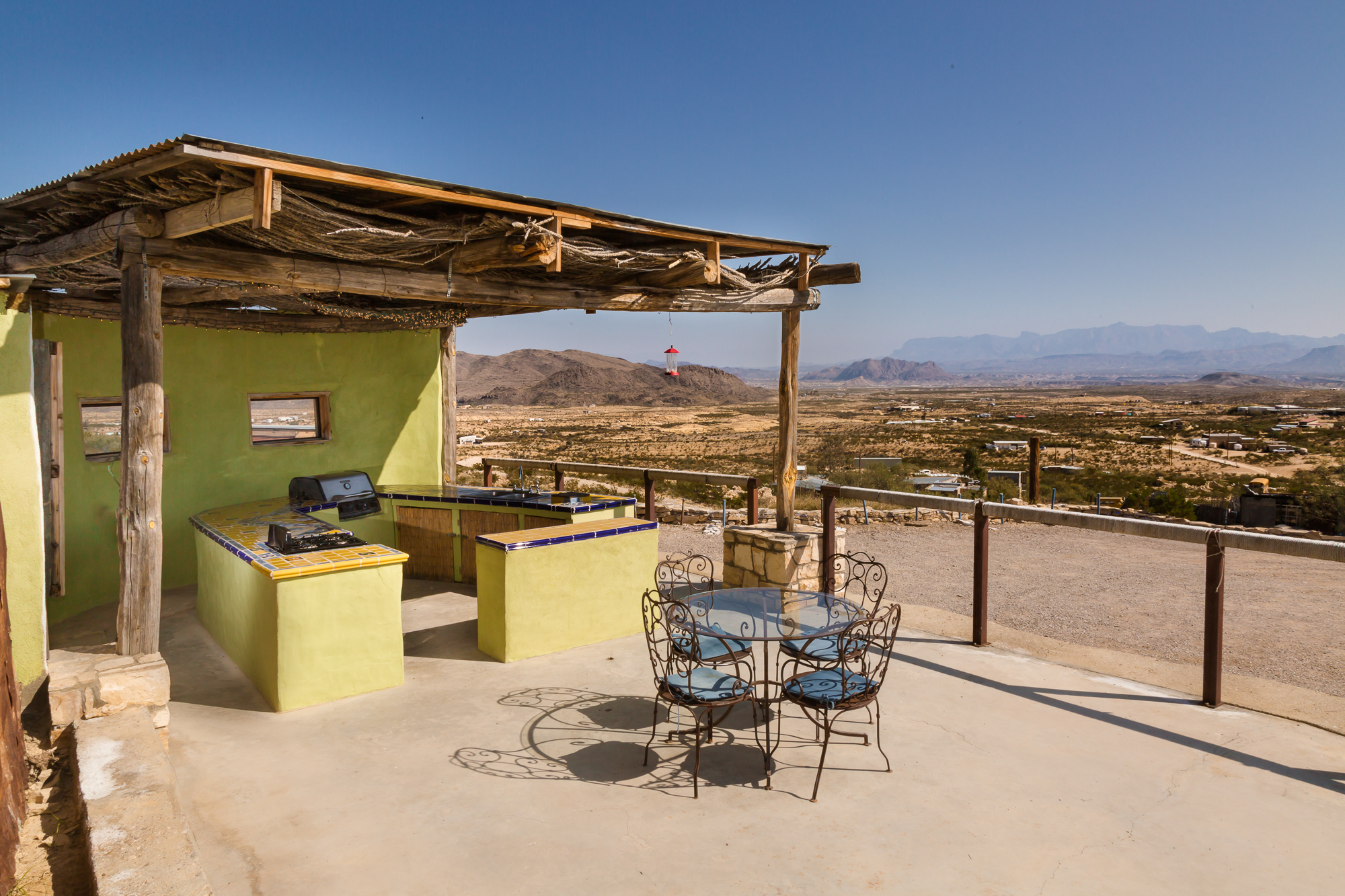Outdoor kitchen available to couples for preparations of food served at reception.