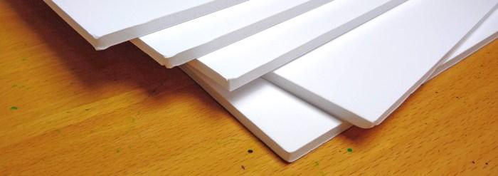 Plaques de carton plume, plusieurs dimensions et épaisseurs disponibles