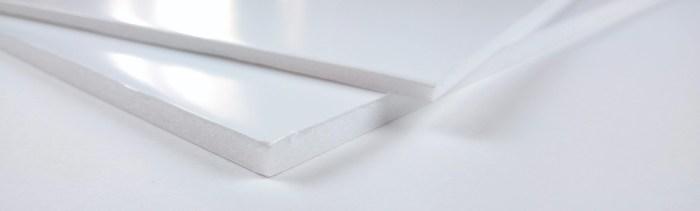 Carton plume ou carton mousse