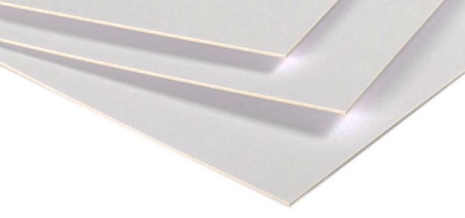 Carton blanc dense