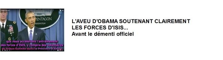 image accès vidéo Obama soutient Isis