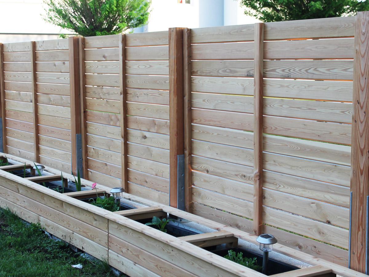 Hochbeet Mit Sichtschutz Sichtschutzzaun Holz Holzarten Lamellen