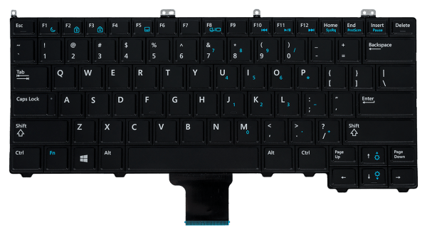 LAPTOP KEYBOARD FOR DELL LATITUDE E7240 WITHOUT TRACKBALL