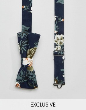 reclaimed-vintage-noeud-papillon-a-fleurs-bleu-marine