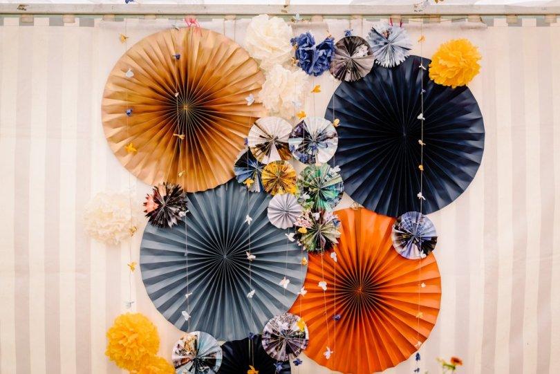 Mariage Orange Pastel Et Bleu Gris V M L Apprentie Mariee