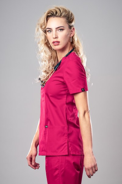 Pyjama medical Hot Pink Profil Gauche 1