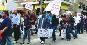 Un clamor popular, no más deportaciones…(Foto de Germán González)