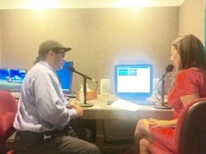 Durante la entrevista con Rossana Longo. (Foto LPDC).