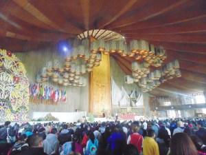 En el interior de la Basílica.